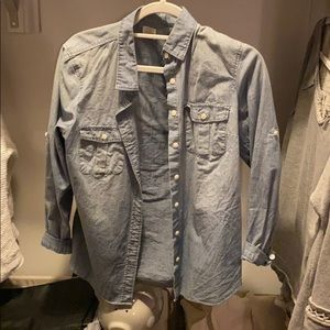 J crew chambray button up